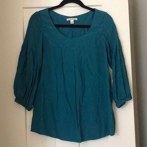 Banana Republic 3/4 Sleeve Turquoise Blouse